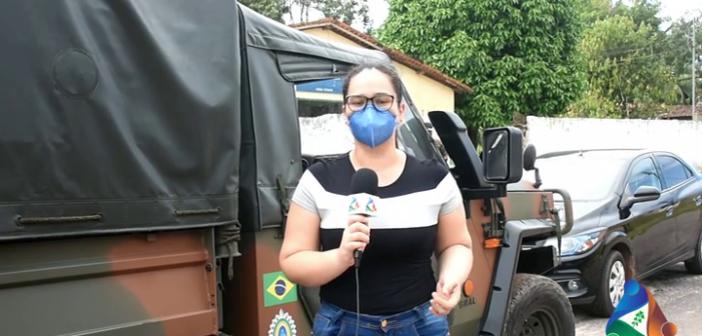 Ação de prevenção e conscientização sobre a Covid-19, em parceria com o Exército Brasileiro
